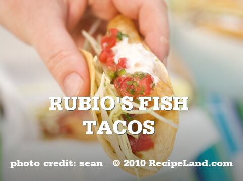 Swedish tacos recipe for Rubios fish taco calories