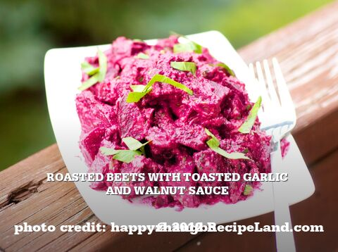 Roasted Beets With Toasted Garlic and Walnut Sauce