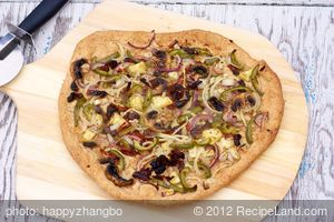 Two Onions, Pineapple and Olive Flatbread