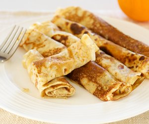 Applesauce Filled Crepes