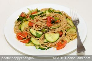 Artichoke Hearts, Cucumber, and Tomato Pasta
