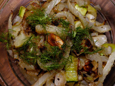 Roasted Squash and Fennel with Thyme