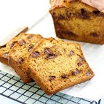 Whole Wheat Banana and Chocolate Chip Bread