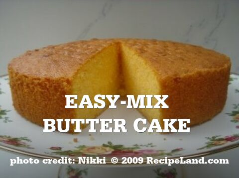 Easy-Mix butter cake