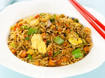 Sugar Snap Pea and Scrambled Eggs Fried Rice