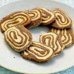 Peanut Butter and Chocolate Pinwheel Cookies