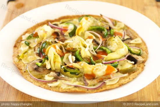 , easy and delicious tortilla pizza is made with whole wheat tortilla ...