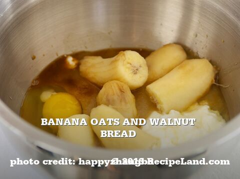 Banana Oats and Walnut Bread