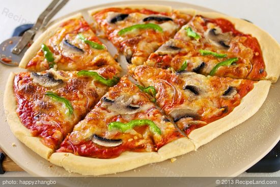 Bell Pepper, Mushroom and Onion Pizza Recipe