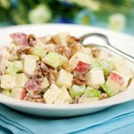 Apple, Celery Salad with Creamy Toasted Walnuts Dressing