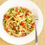 Cheddar Spaghetti Vegetable Salad