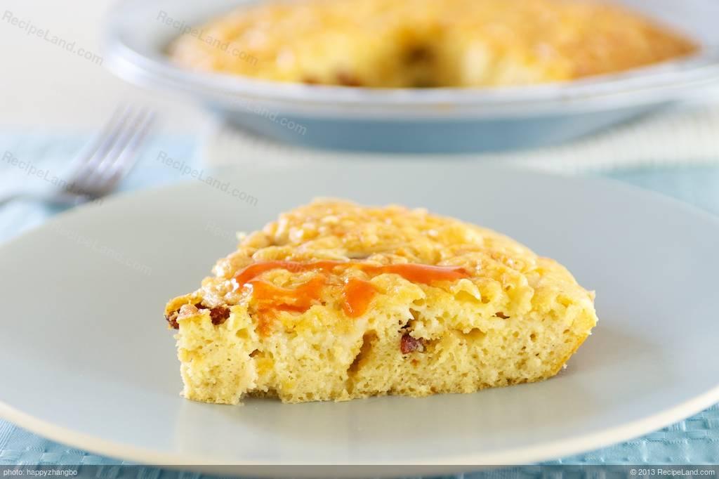 Crustless Bacon And Egg Quiche Recipe