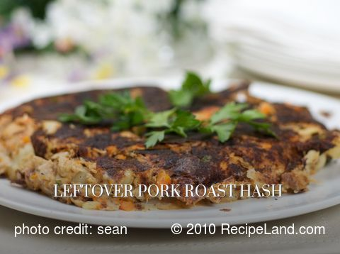 Leftover Pork Roast Hash