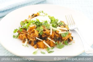 Butternut Squash, Black Bean and Tortilla Stew