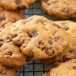 Applesauce Whole Wheat Chocolate Chip Coffee Cookies