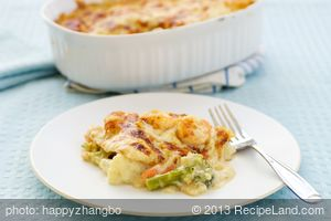 Broccoli Shrimp Lasagna