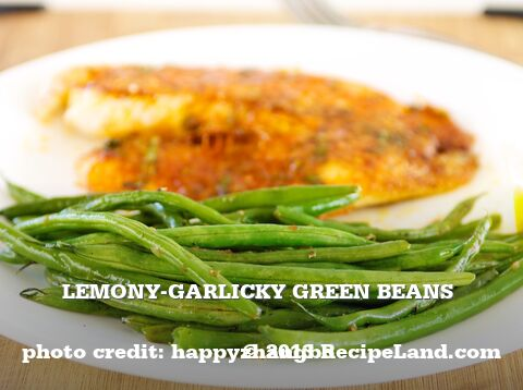 Lemony-Garlicky Green Beans