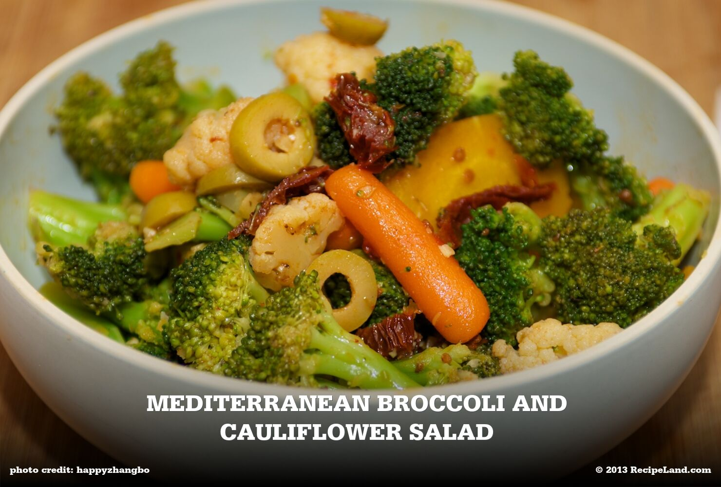 Mediterranean Broccoli and Cauliflower Salad