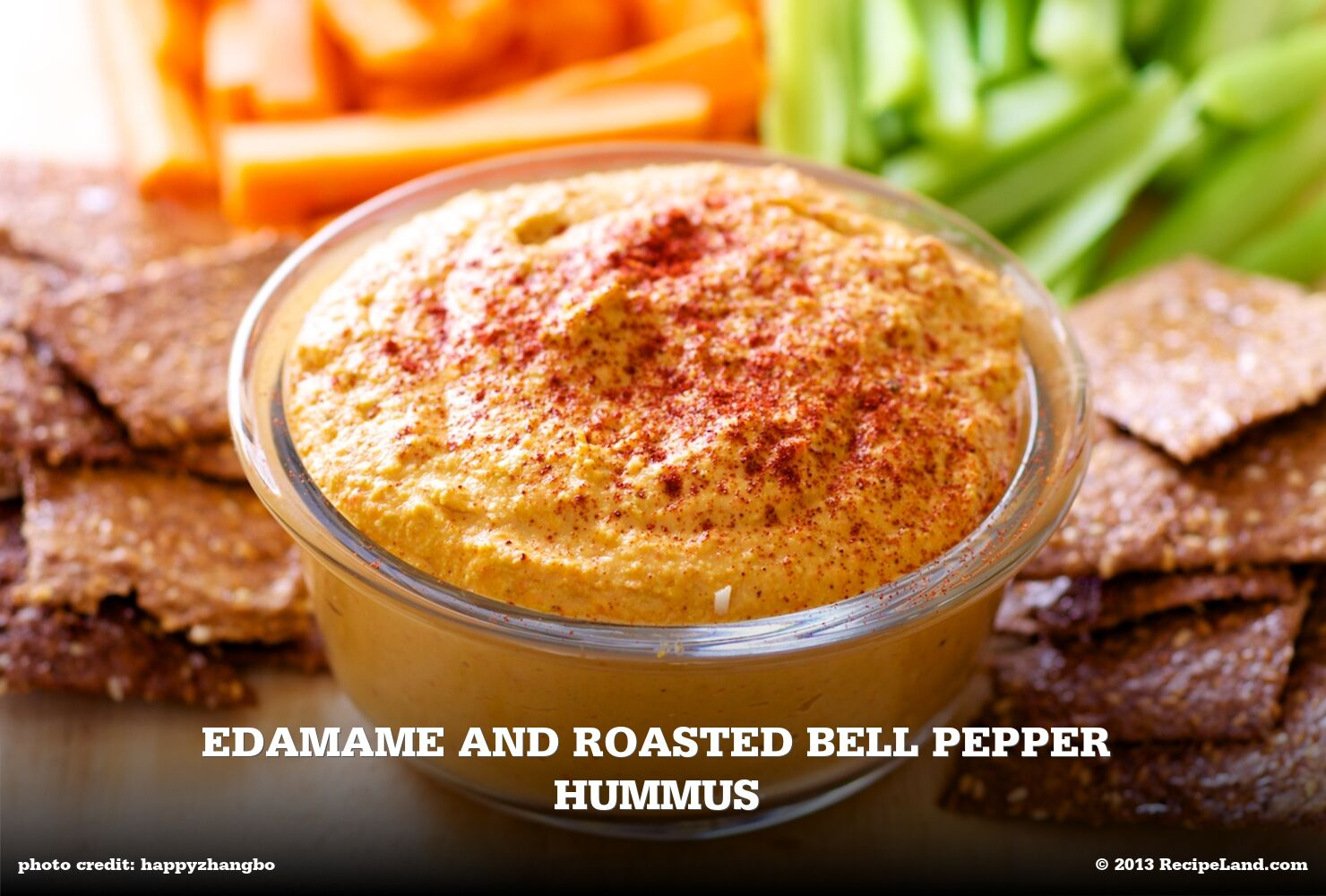Edamame and Roasted Bell Pepper Hummus