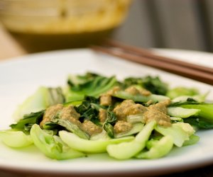 Sauteed Bok Choy with Cashew Sauce