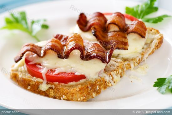 Bacon, Cheese, and Tomato Sandwiches