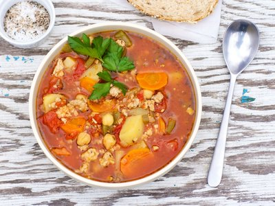 Crockpot Italian Sausage Vegetable Soup