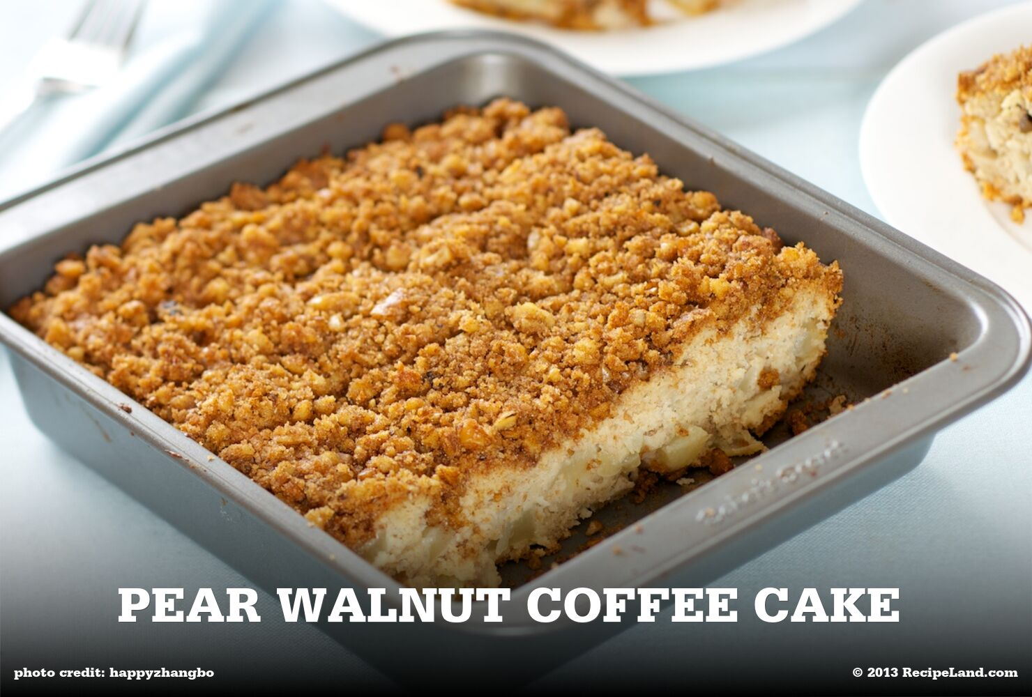 Pear Walnut Coffee Cake