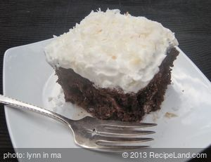 Coconut-Chocolate Poke Cake