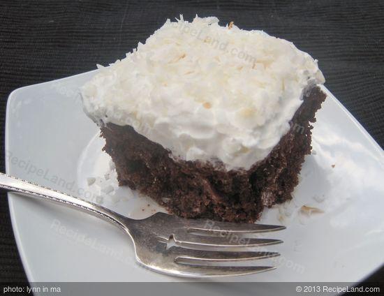 Coconut Chocolate Poke Cake Recipe