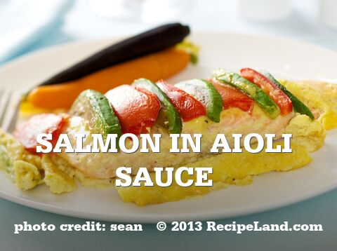 Salmon in Aioli Sauce