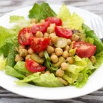 Chickpea, Tomato and Olive Salad