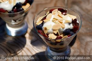Blueberry and Cherry Trifles-Individual