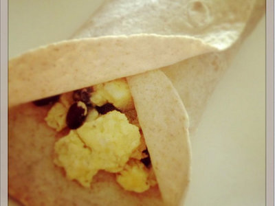 Egg and Black Bean Breakfast Burritos (Nutrition Grade A) (Easy Prep)