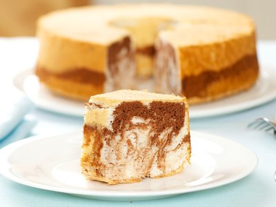 Chocolate Marbled Angel Food Cake