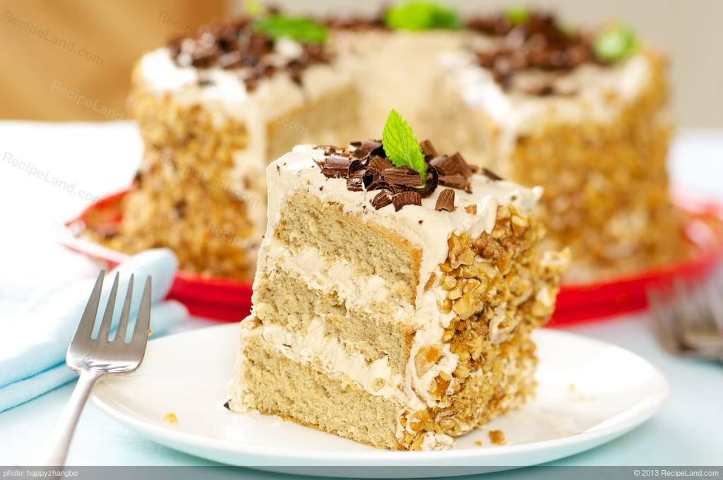 Coffee Cream Cake Recipe   RecipeLand.com