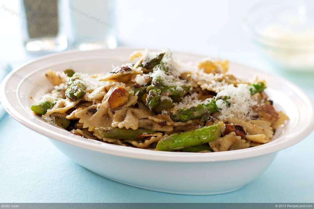 Bow-Tie Pasta, Asparagus, Toasted Almonds and Browned Butter Recipe