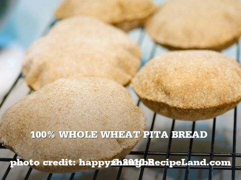 100% Whole Wheat Pita Bread