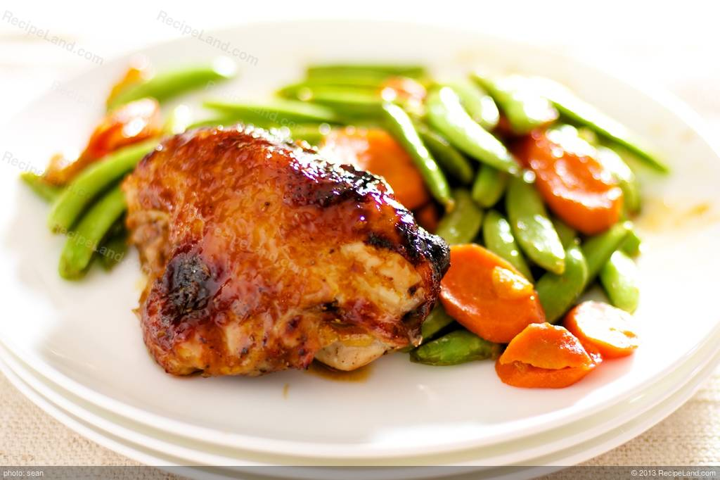 Orange-Hoisin Glazed Roasted Chicken and Vegetables Recipe