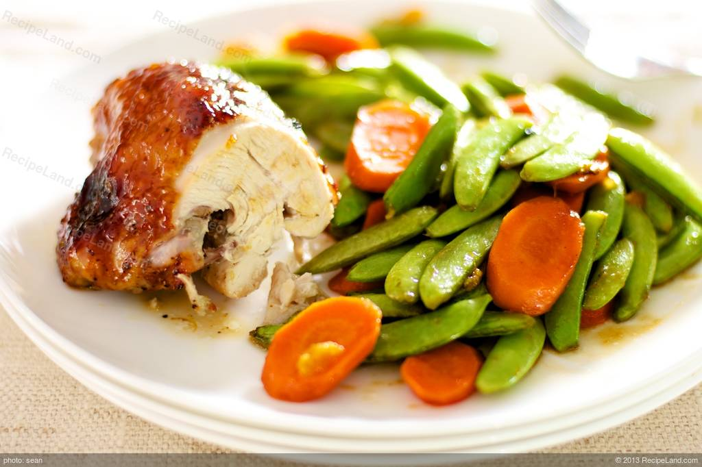 Orange Hoisin Glazed Roasted Chicken And Vegetables Recipe