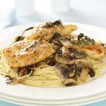 Chicken Piccata with Pasta and Mushrooms
