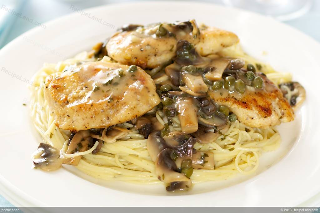 Chicken Piccata With Pasta And Mushrooms Recipe