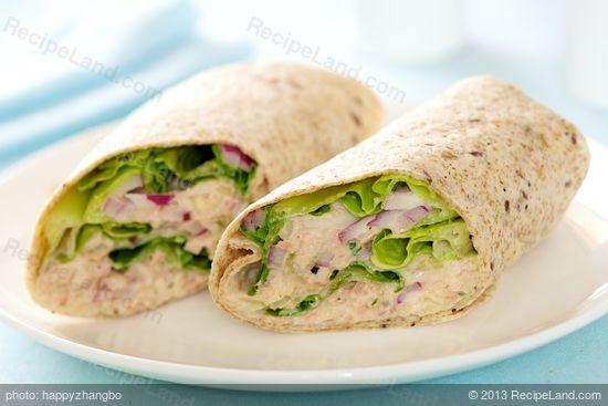 Chunky Tuna Salad Roll Ups Recipe