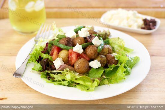 Roasted New Potato Salad with Basil Vinaigrette Recipe