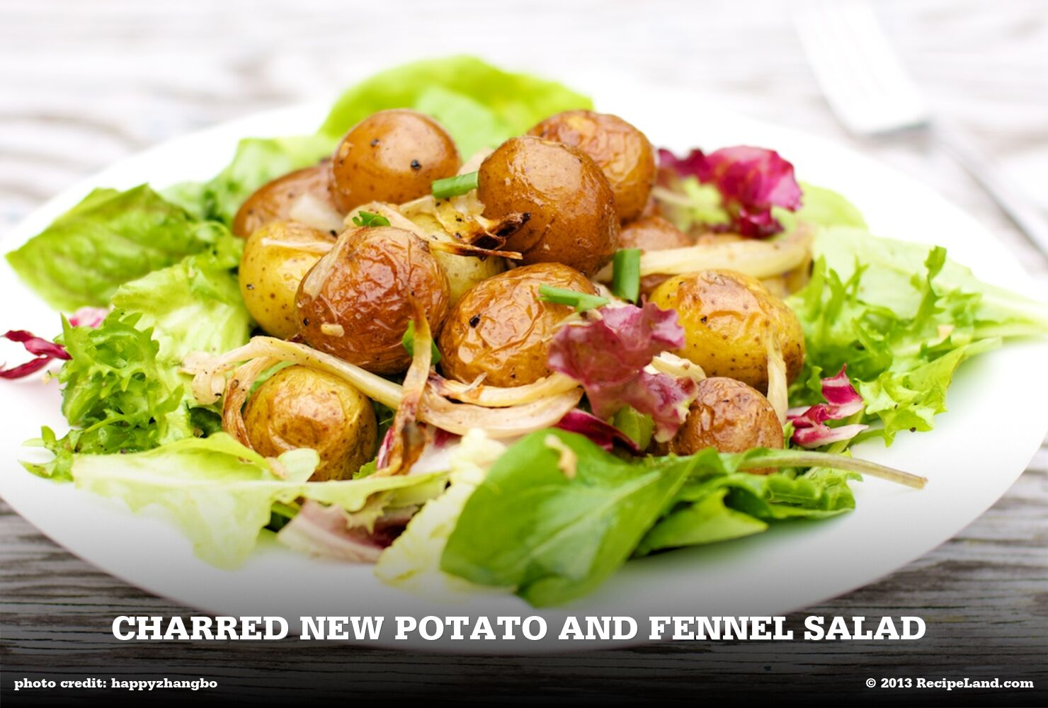 Charred New Potato and Fennel Salad
