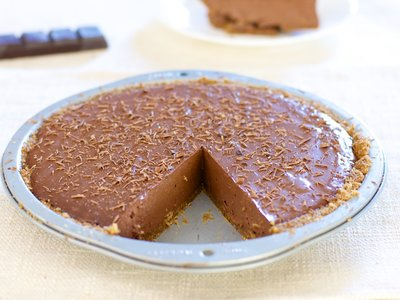 Chocolate Silken Tofu Pie