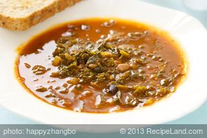 Cannellini Bean Soup with Kale and Garlic-Olive Oil Crostini