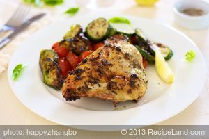 Roasted Garlicky Basil and Lemon Zest Chicken