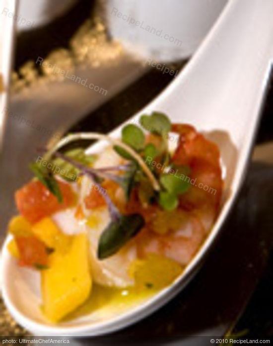 Shrimp Cocktail with Fresh Avocado and Mango Salsa recipe