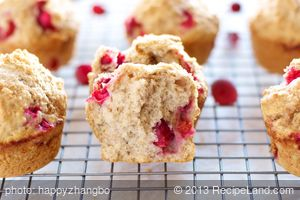 Best Cranberry Muffins (Healthier Version)