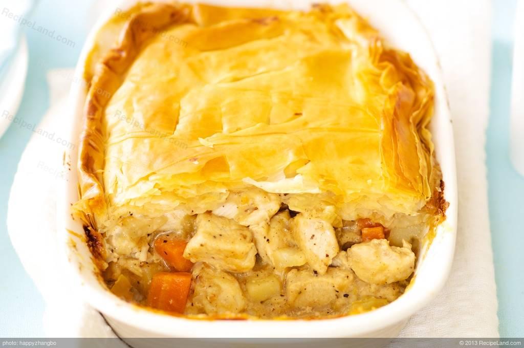 Phyllo Chicken Pot Pie Recipe Recipeland Com